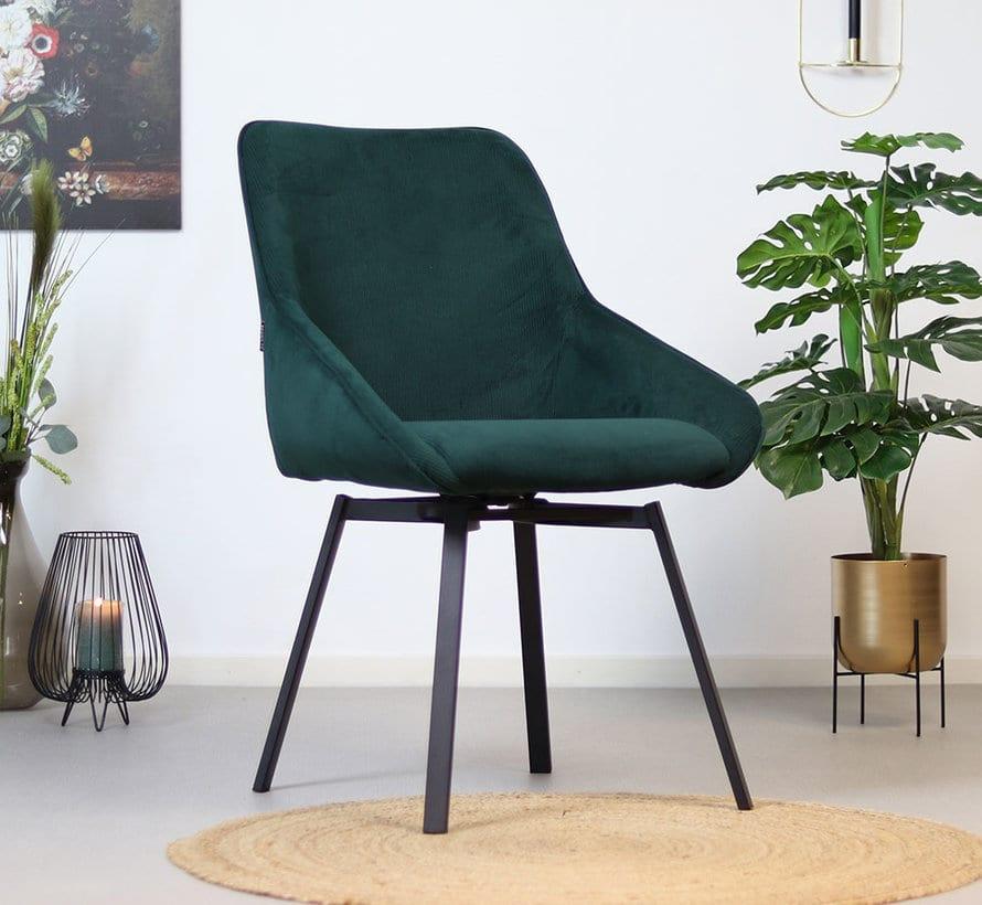 bronx71-horeca-draaibare-stoel-luna-donkergroen-ri