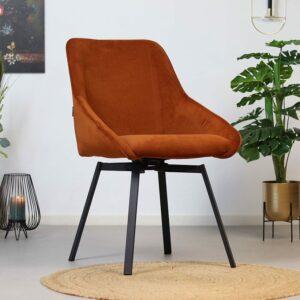 bronx71-horeca-draaibare-stoel-luna-koper-ribstof