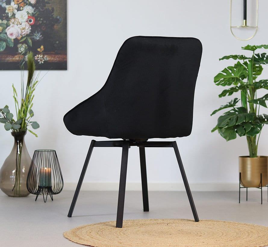 bronx71-horeca-draaibare-stoel-luna-zwart-ribstof (2)