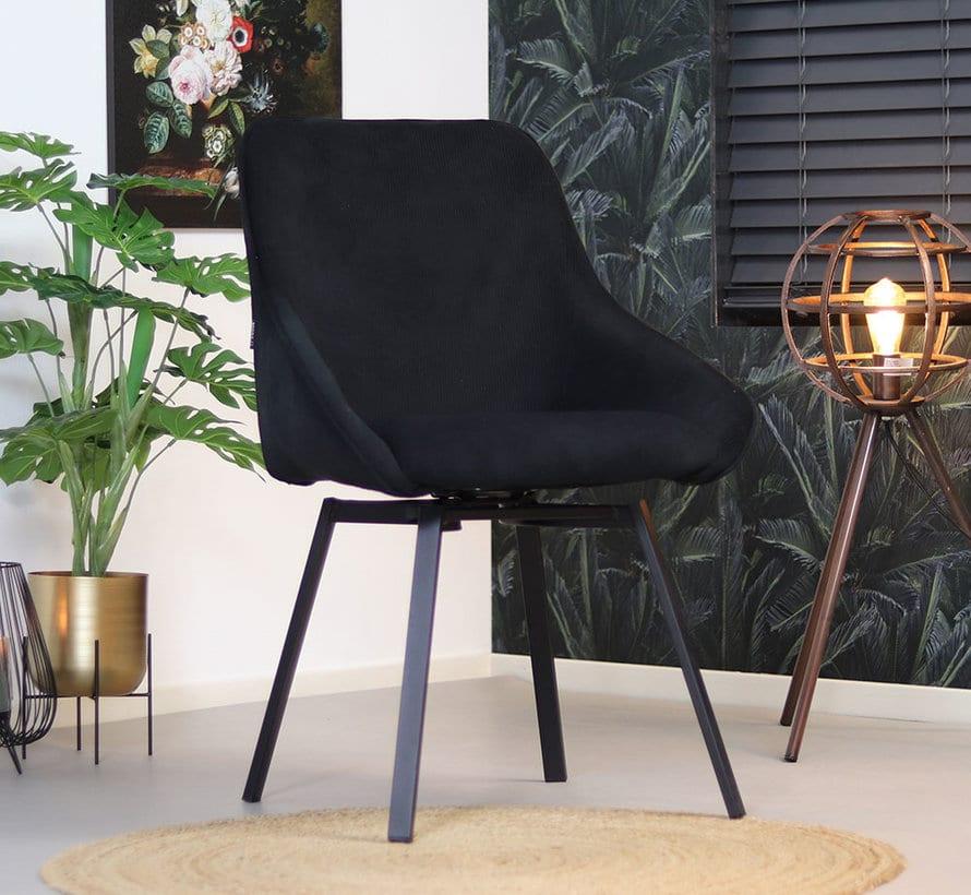bronx71-horeca-draaibare-stoel-luna-zwart-ribstof (3)