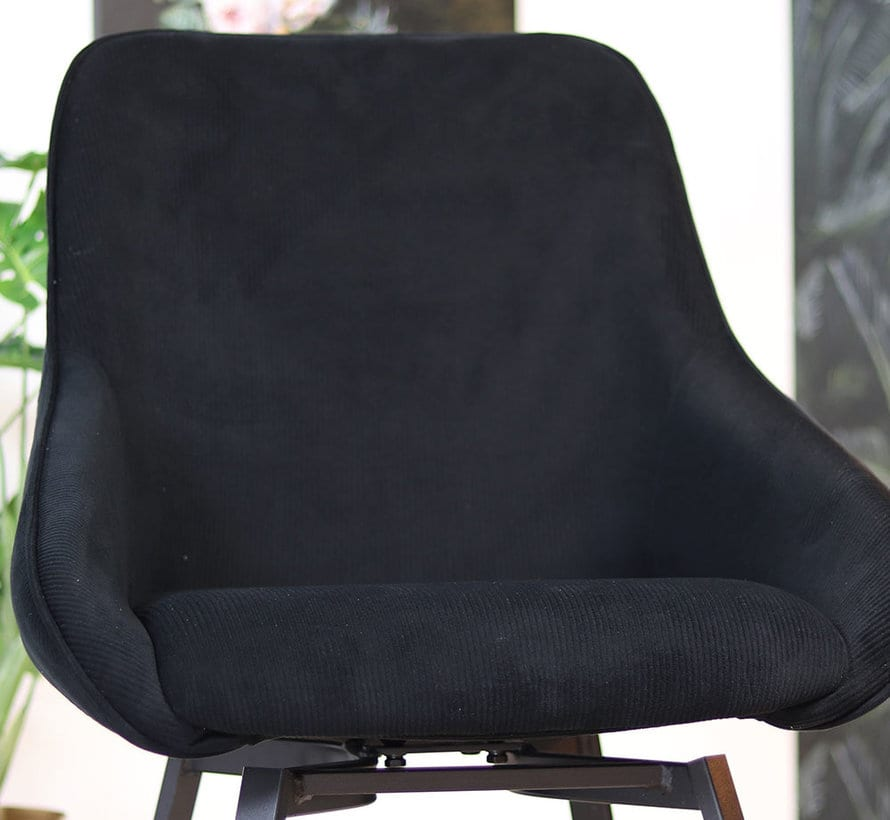 bronx71-horeca-draaibare-stoel-luna-zwart-ribstof (4)