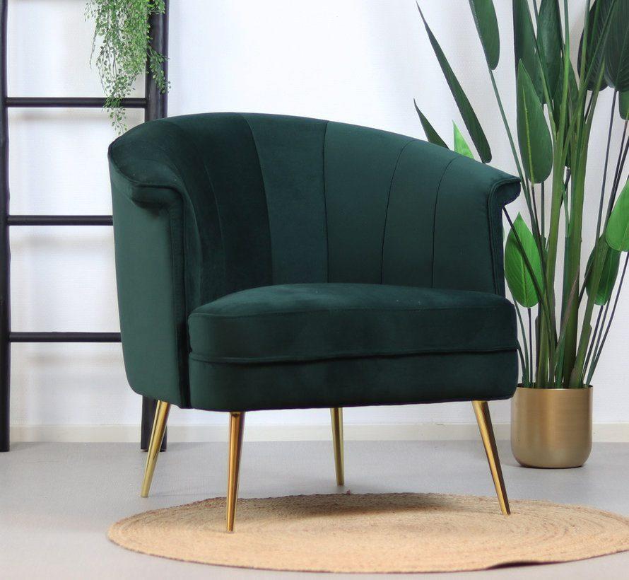 bronx71-fauteuil-amy-donkergroen-velvet