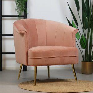 bronx71-fauteuil-amy-roze-velvet