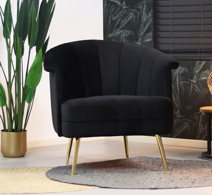 bronx71-fauteuil-amy-zwart-velvet