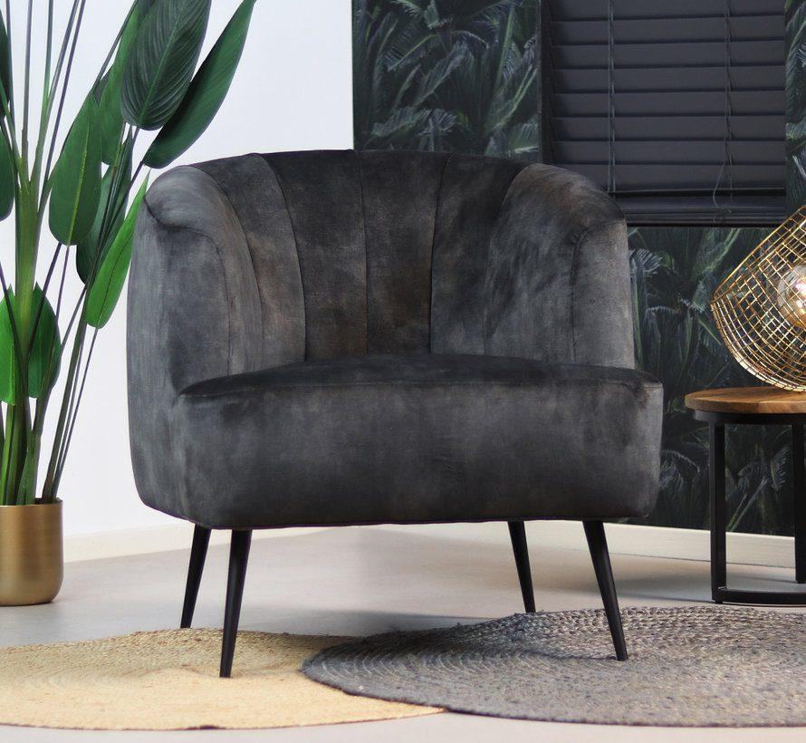 bronx71-fauteuil-billy-antraciet-velvet
