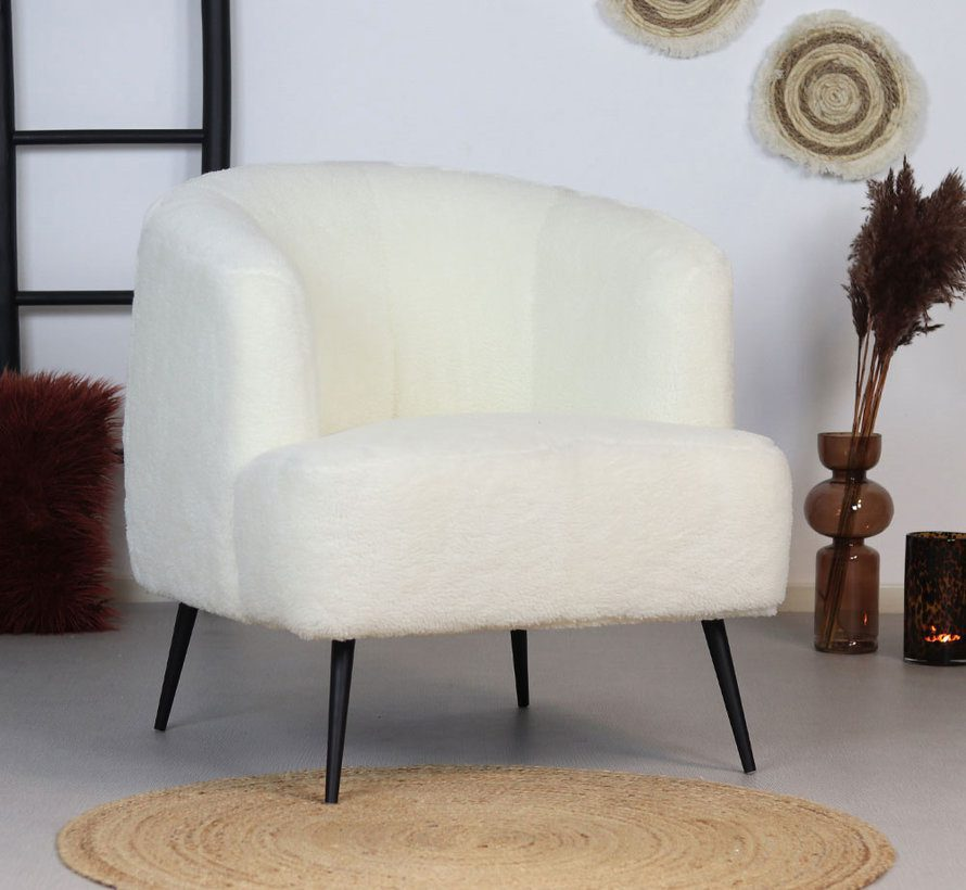 bronx71-fauteuil-billy-wit-teddy
