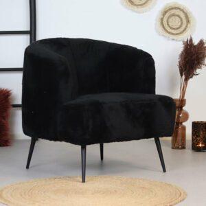 bronx71-fauteuil-billy-zwart-teddy