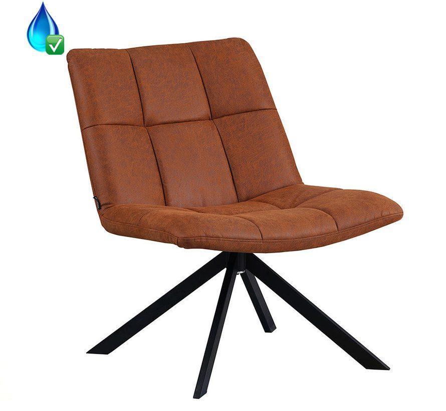 bronx71-fauteuil-eevi-cognac-eco-leer
