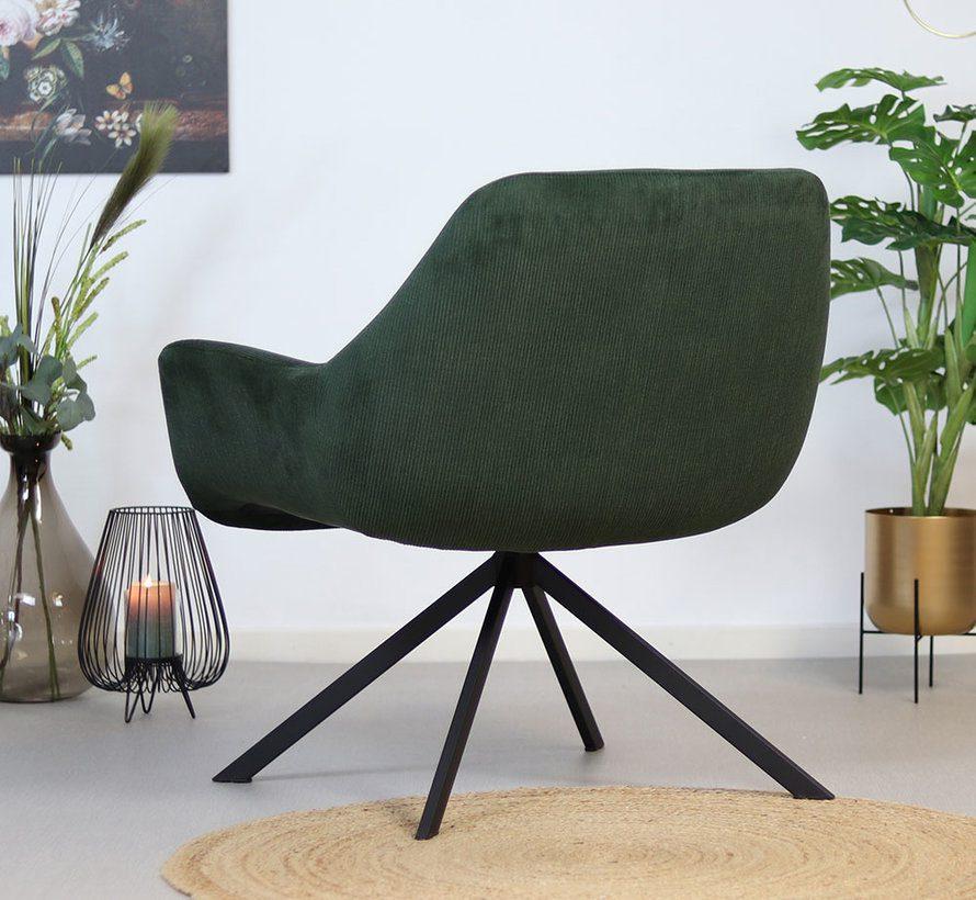 bronx71-fauteuil-emily-groen-ribstof