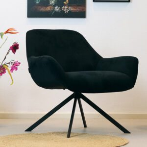 bronx71-fauteuil-emily-zwart-ribstof