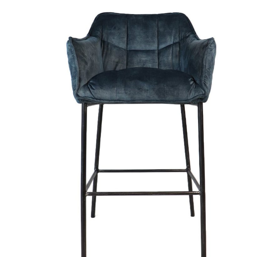 bronx71-horeca-barkruk-jayron-blauw-velvet-82-cm