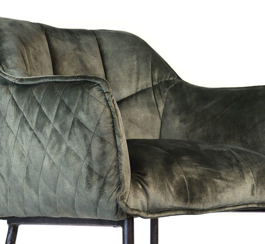 bronx71-horeca-barkruk-jayron-groen-velvet-82-cm