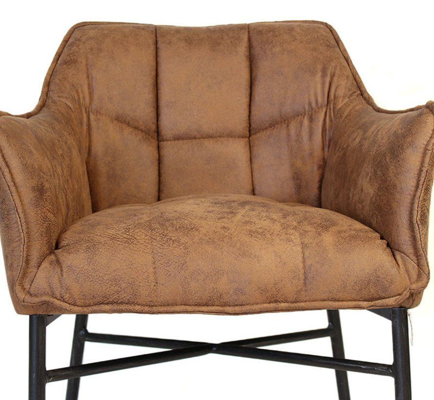 horeca-stoel-aaron-microvezel-leatherlook-cognac